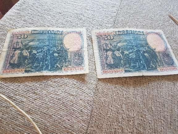 Imagen Dos billete pesetas del año 1928