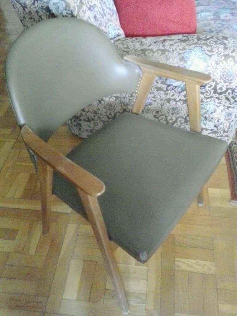 Imagen Silla madera acolchada