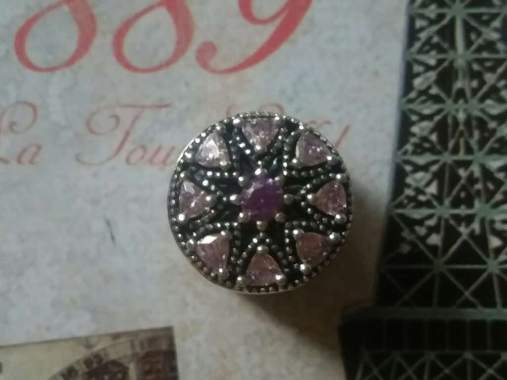 Imagen producto Charms (CZ Rosa)  2
