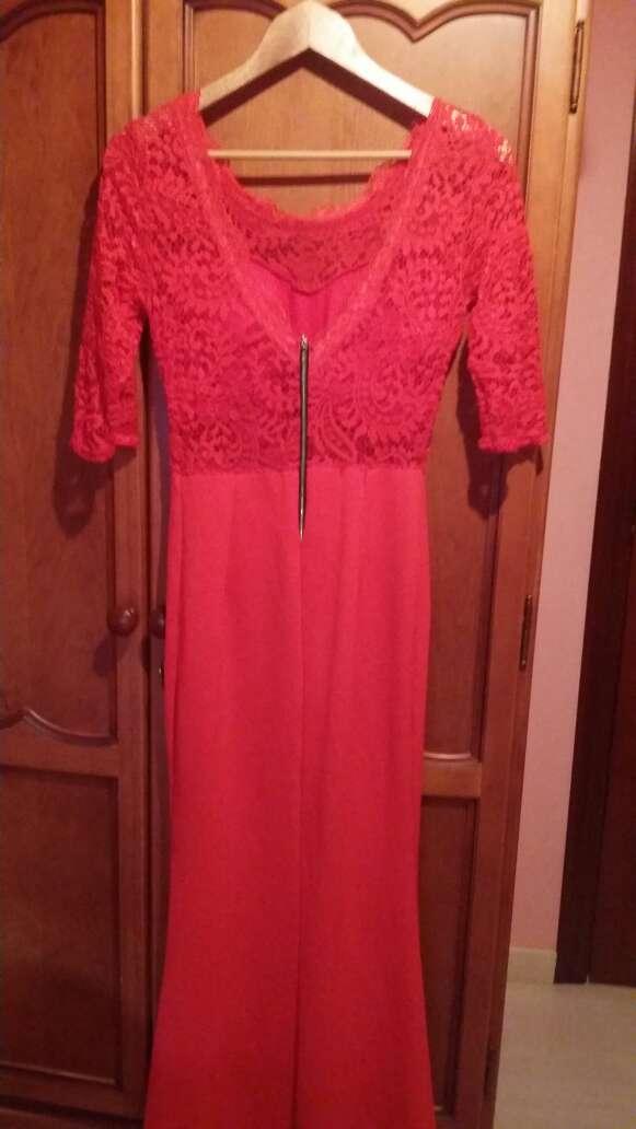Imagen producto Vestido rojo de encaje  2