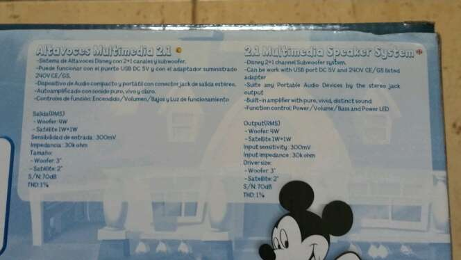 Imagen producto Altavoces multimedia 2 en 1 para ordenador de Disney  3