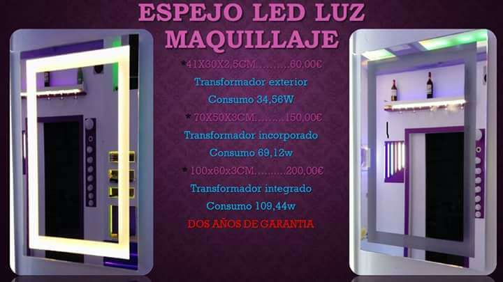Imagen Espejo led luz maquillaje