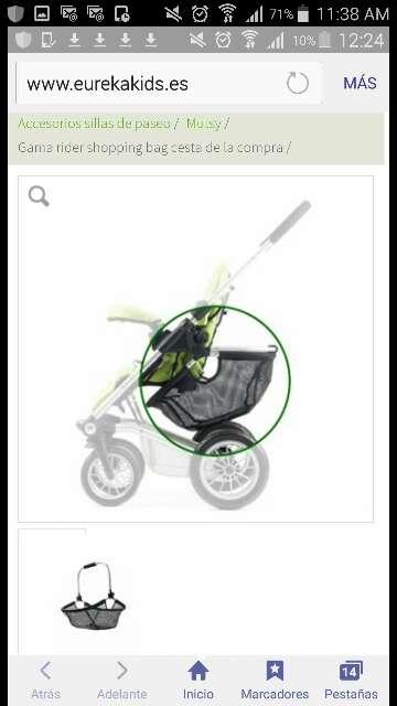 Imagen producto Cochecito carrito mutsy 4