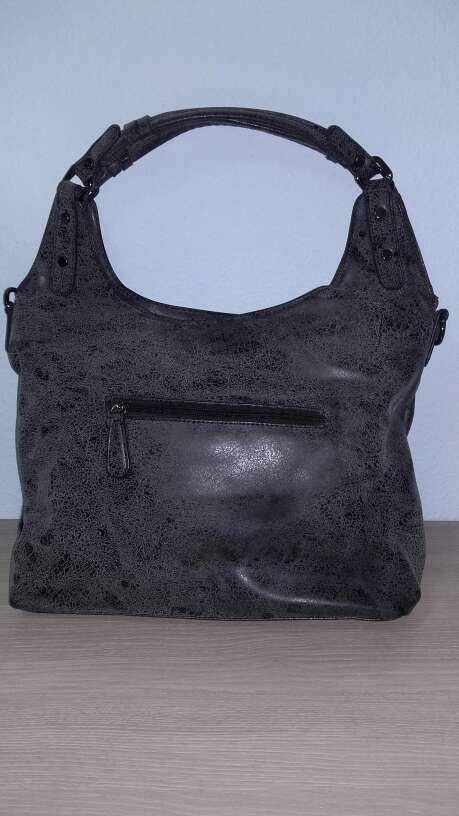 Imagen producto Bolso gris/negro de piel 2
