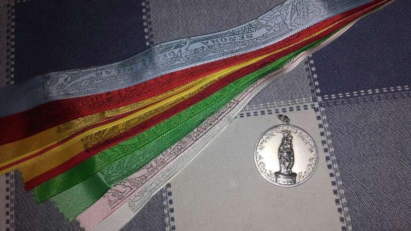 Imagen producto Medalla virgen del Pilar+cintas 1