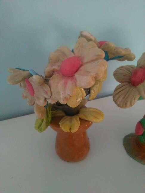 Imagen producto Due bellissime statuette raffiguranti fiori fatti a mano 2