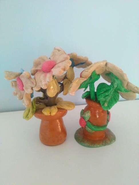 Imagen producto Due bellissime statuette raffiguranti fiori fatti a mano 3