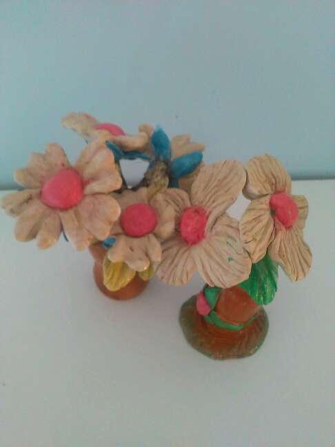 Imagen producto Due bellissime statuette raffiguranti fiori fatti a mano 4
