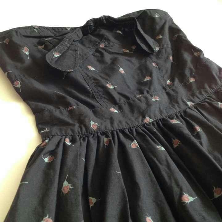 Imagen producto Vestido Negro Flores Palabra Honor  3