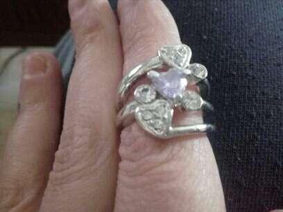 Imagen anillo,circonitas y cristal swarosky