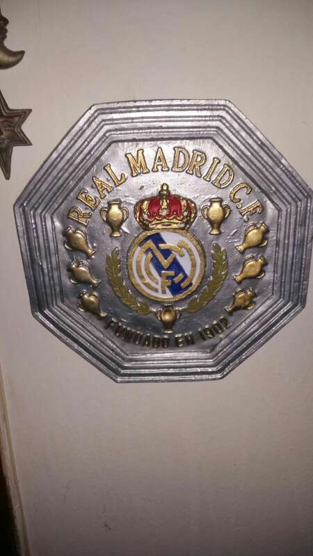Imagen escudos artístico real Madrid colgar 34.5 X 34.5 cm