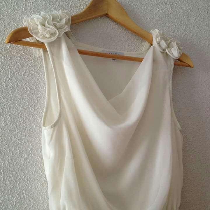 Imagen producto Vestido vaporoso blanco fiesta  3