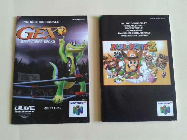 Imagen Manuales originales juegos N64
