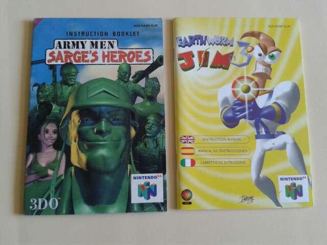 Imagen producto Manuales originales juegos N64 2