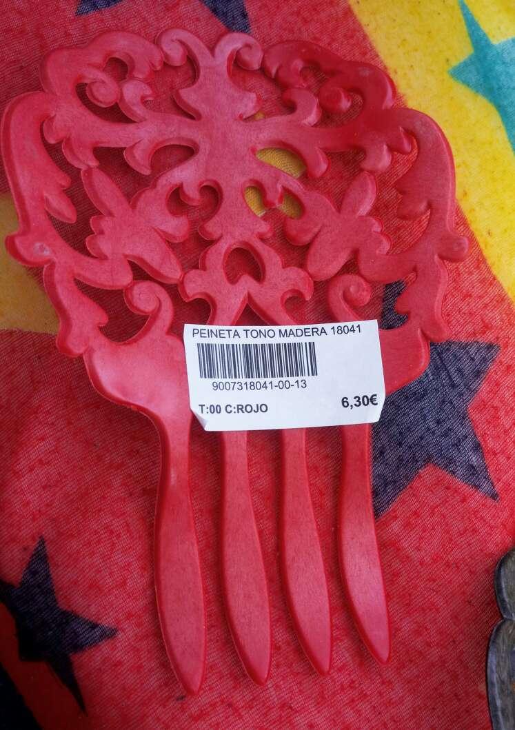Imagen producto Peinetas madera ¡A ESTRENAR! Con etiqueta!  3