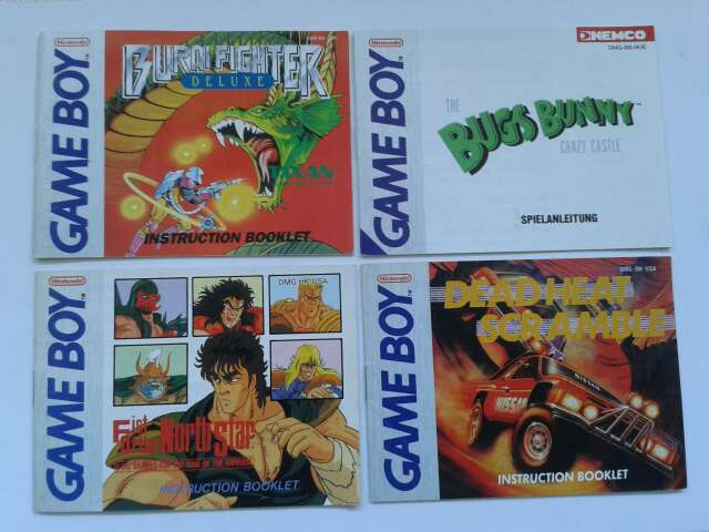 Imagen Manuales originales Game Boy