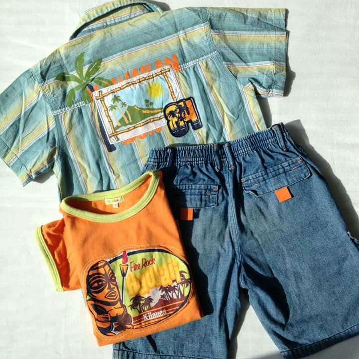 Imagen producto Lote Conjunto Hawaii niños  3