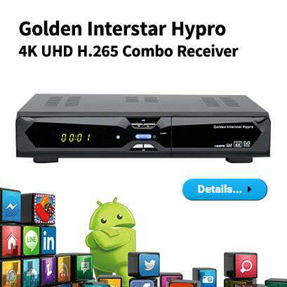 Imagen Android OS 4k UHD TV BOX combo Golden Media
