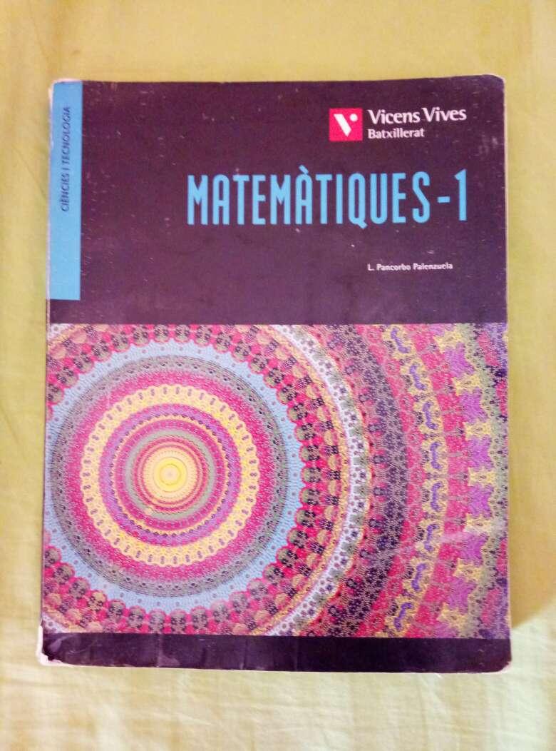 Imagen Libro de matemàtiques 1o de bachillerato
