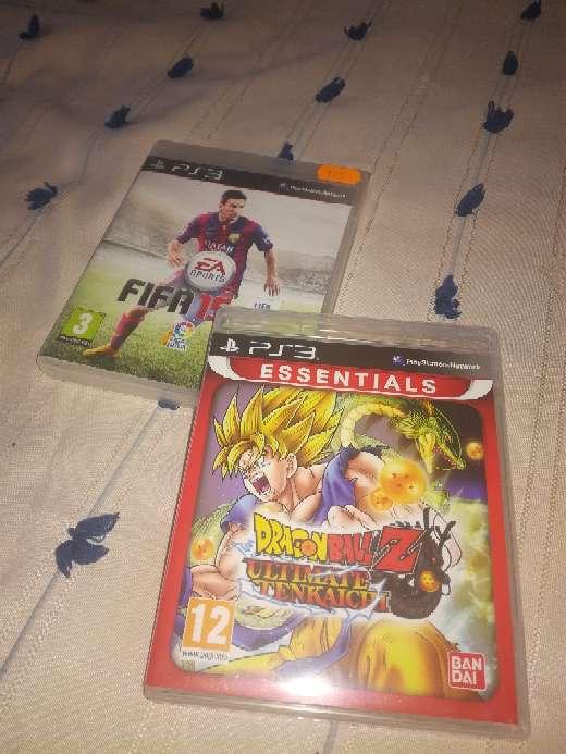 Imagen Juegos Ps3 Fifa y Dragón ball