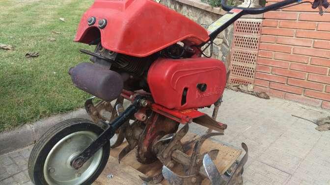Imagen motoazada, motocultor, mula,