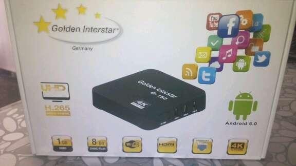 Imagen producto TV Box G-150 4k android 6,0 Golden Interstar 3