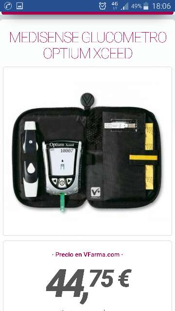 Imagen producto Medidor de glucosa optium xceed 2