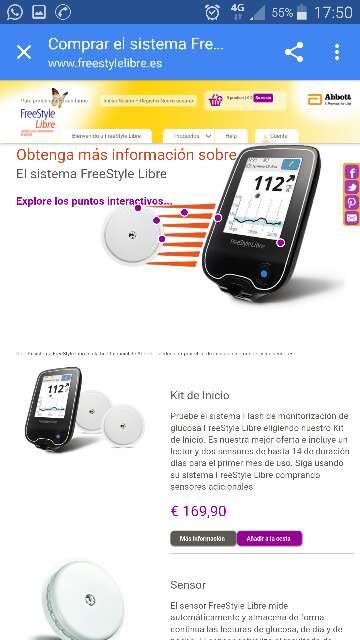 Imagen producto Medidor de glucosa freestyle insulinx 2