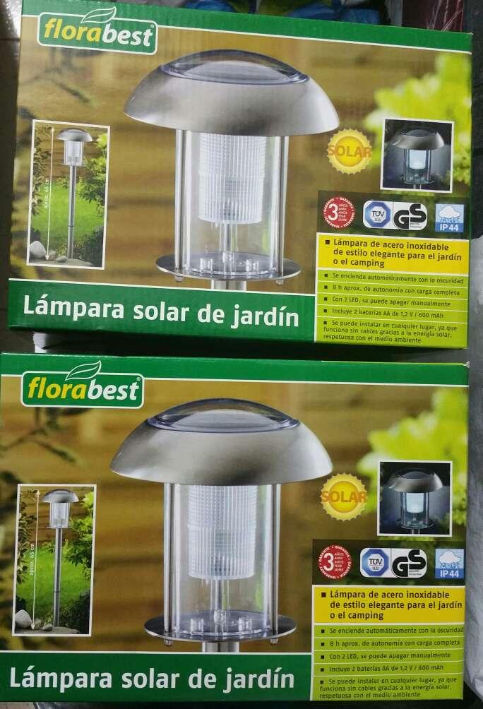 Imagen Set de 2 lámparas de jardín solares nuevas