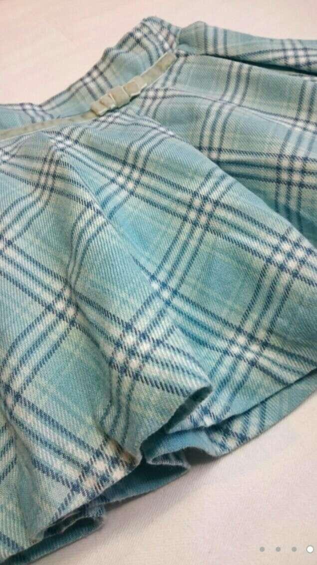 Imagen producto Falda azul cuadros 4