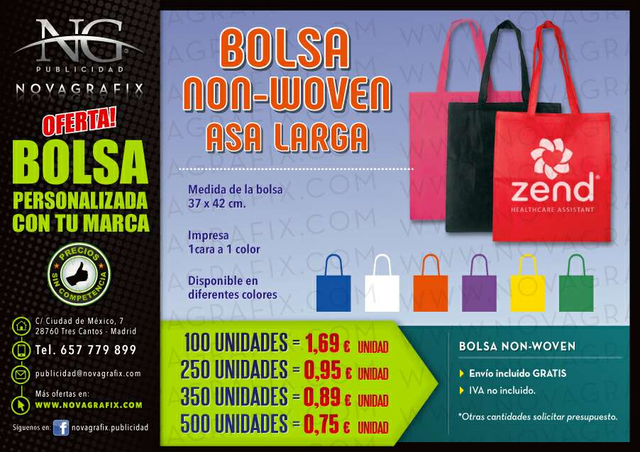 Imagen producto Bolsas NON-WOVEN personalizadas  2