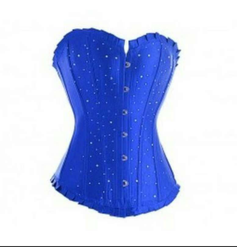Imagen producto Corsé azul con strass. 1