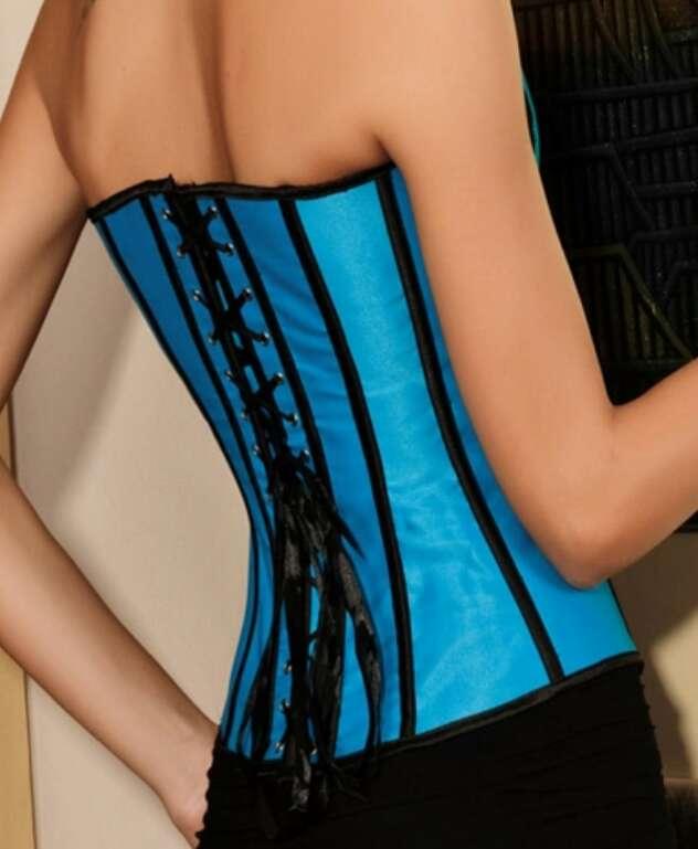 Imagen producto Corsé azul con encaje. 2