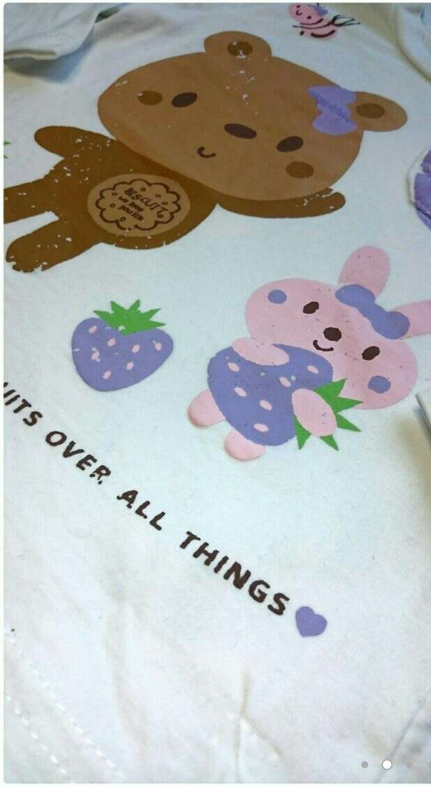 Imagen producto Camiseta osito y vaqueros niñas  2