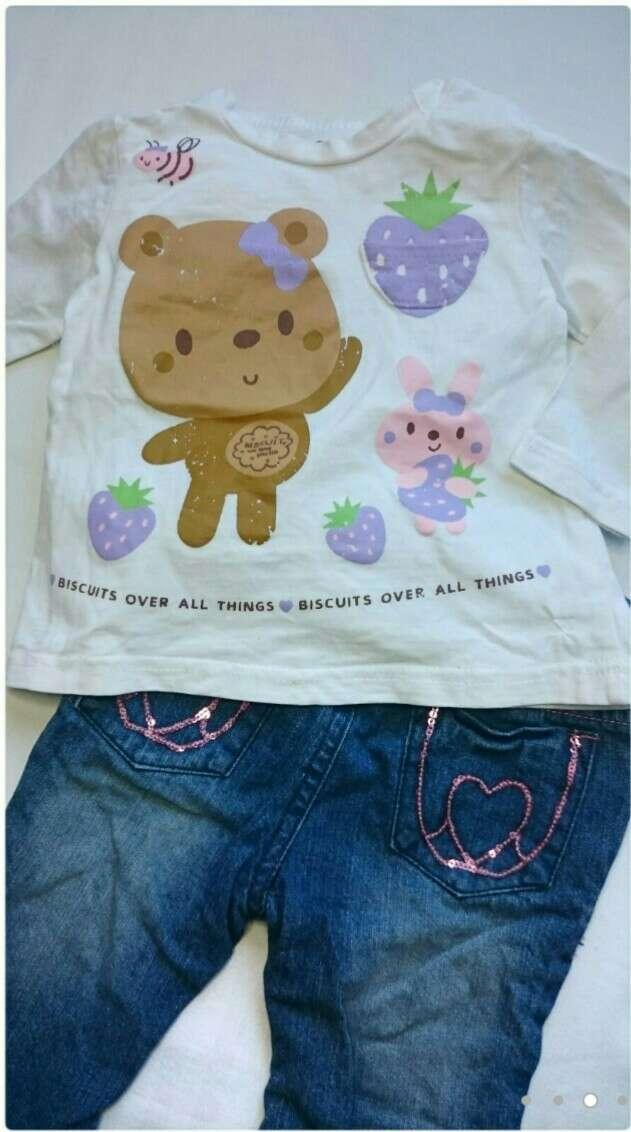 Imagen producto Camiseta osito y vaqueros niñas  3