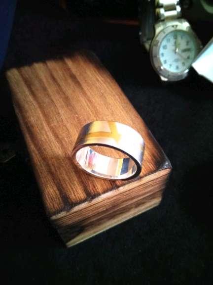 Imagen anillo. de. plata oro