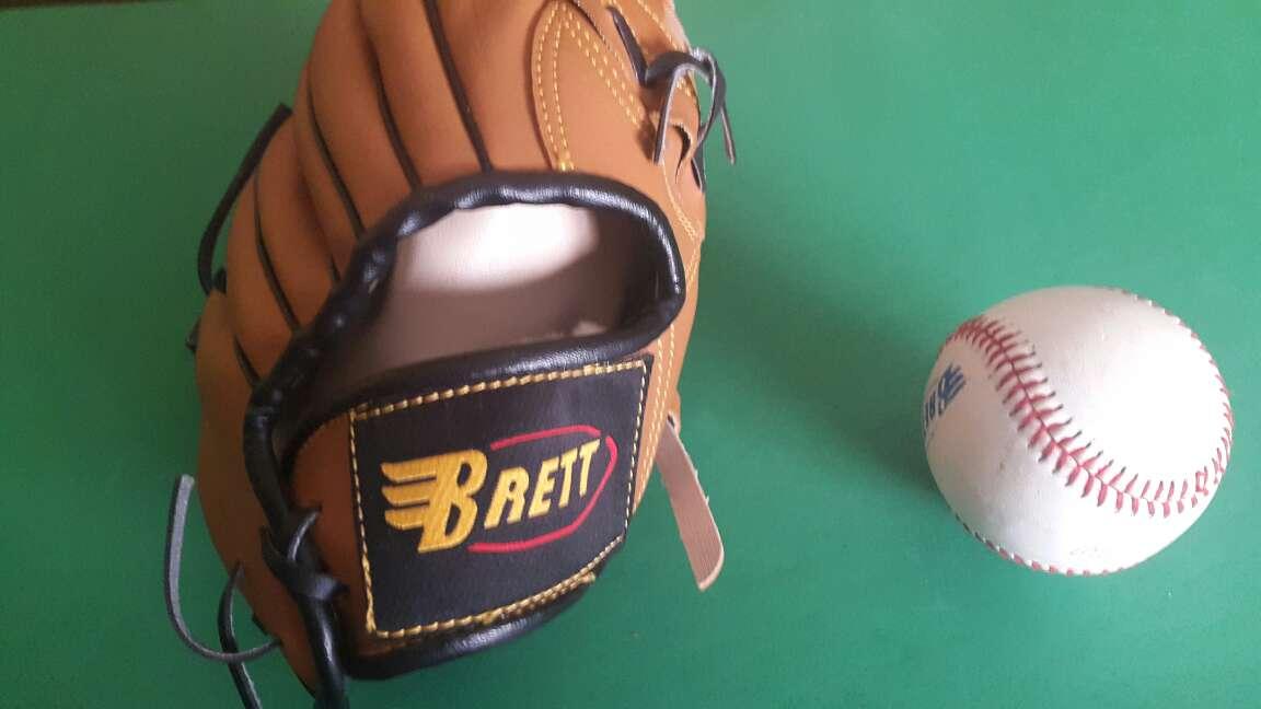 Imagen Guante de Beisbol mas pelota marca Brett