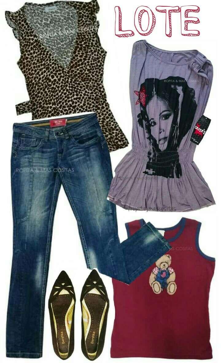 Imagen producto Lote Vaqueros Zapatos Camisetas  1
