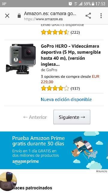 Imagen cámara GoPro hero