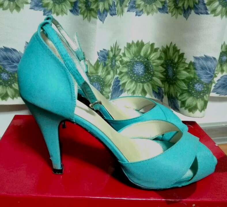 Imagen producto Zapatos turquesa mujer 2