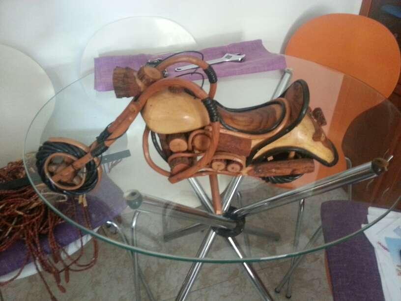 Imagen producto Moto decoracion cope echa en madera y caña muy elegante  2