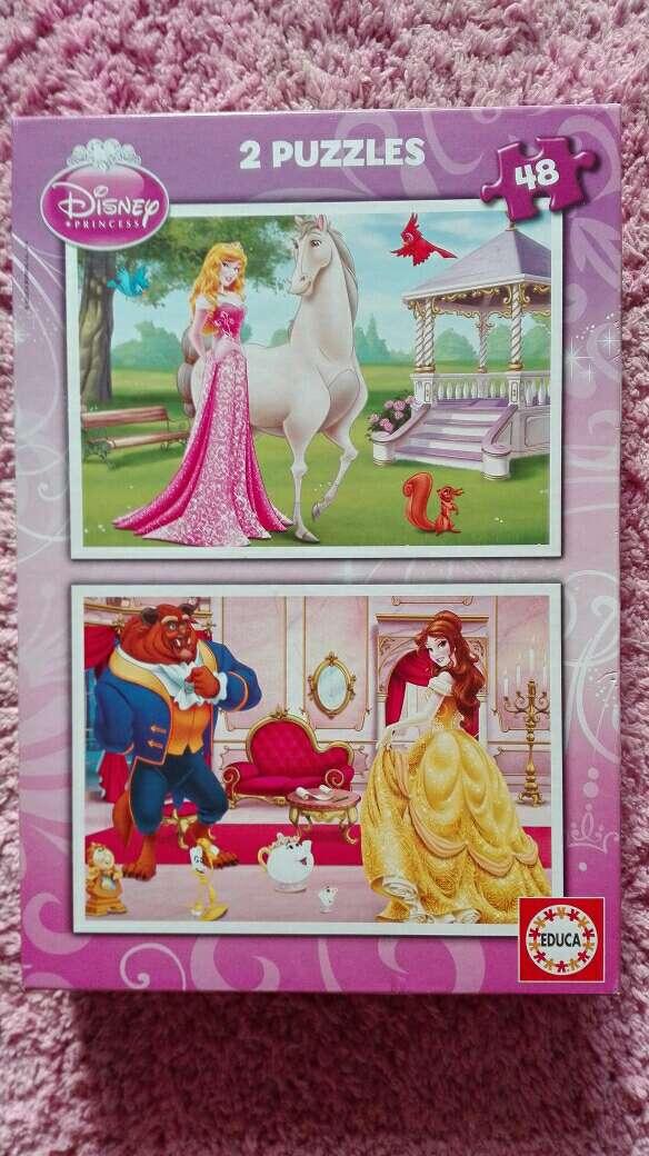Imagen Puzzle doble Princesas Disney 48 piezas nuevo