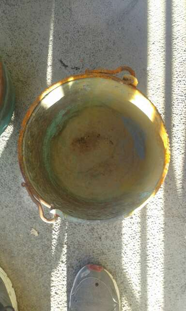 Imagen calderos de cobre vintage