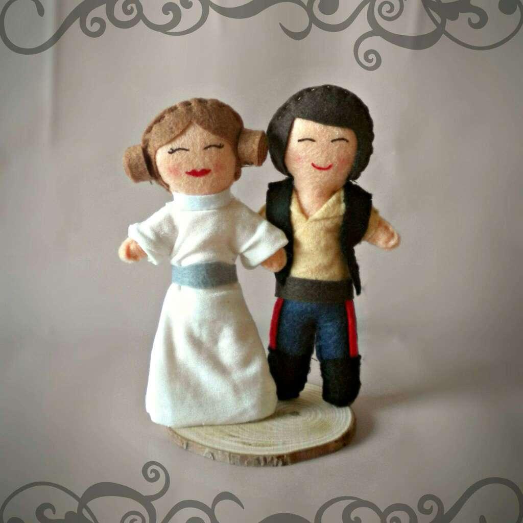 Imagen producto Muñecos para tarta de boda. 1