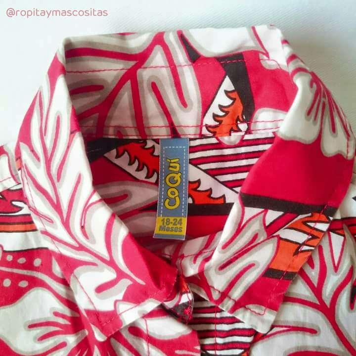 Imagen producto Camisa Hawaiana Coqui Zuecos tipo Crocs  4