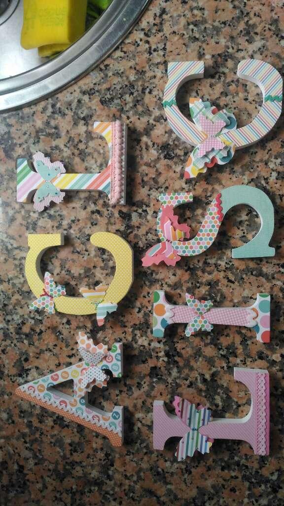 Imagen letras madera scrap