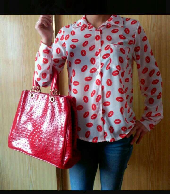 Imagen producto Bolso grande rojo 3