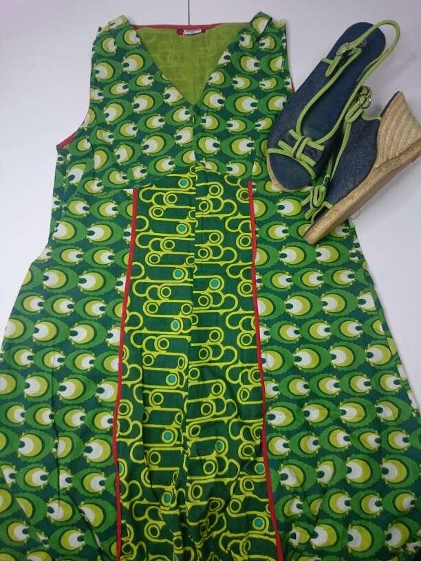 Imagen producto Vestido verde Cuñas Esparto  2