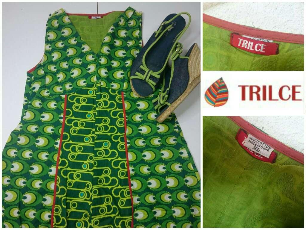 Imagen producto Vestido verde Cuñas Esparto  3