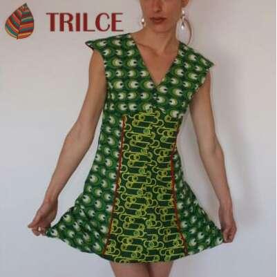 Imagen Vestido verde Cuñas Esparto